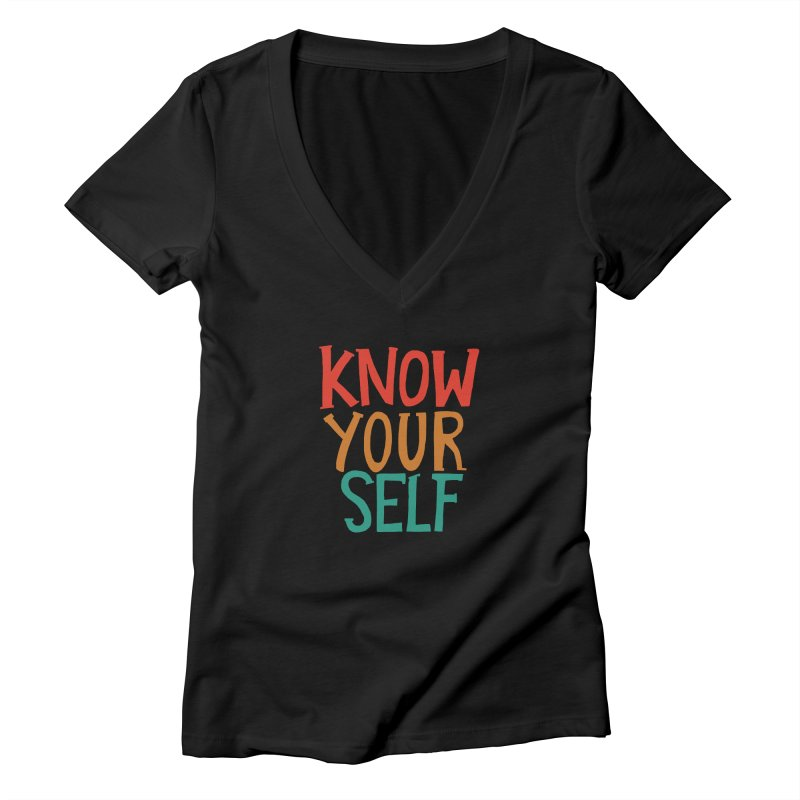 Know Yourself Women's V-Neck by Thomas Orrow