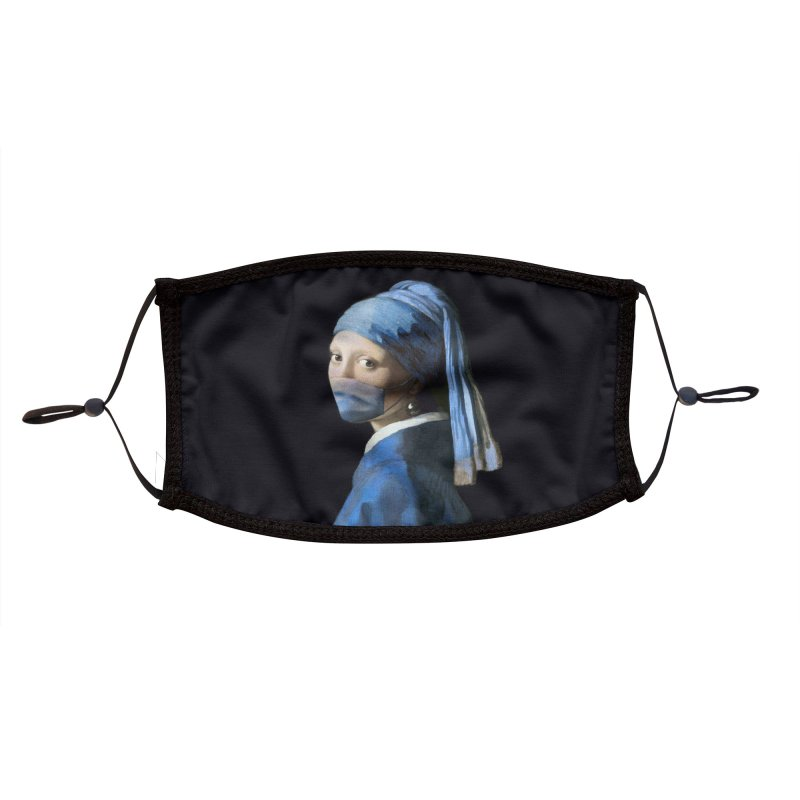 Girl with Covid-19 Accessories Face Mask by Thomas Orrow
