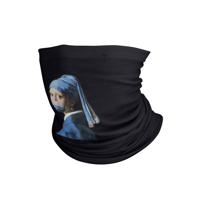 Girl with Covid-19 Accessories Neck Gaiter by Thomas Orrow