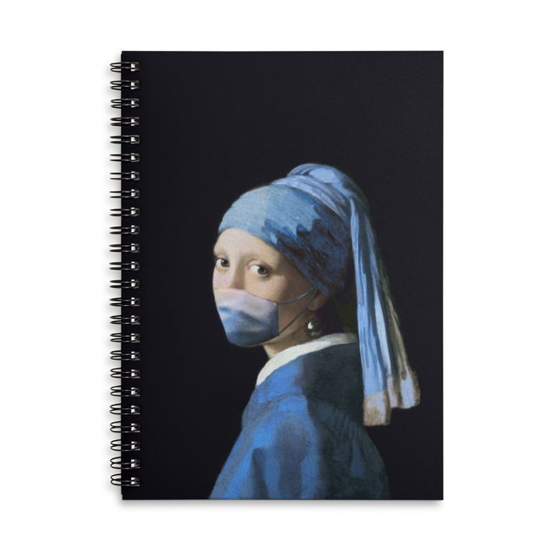 Girl with Covid-19 Accessories Notebook by Thomas Orrow