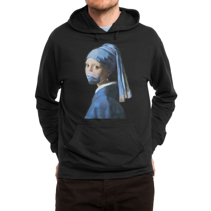 Girl with Covid-19 Men's Pullover Hoody by Thomas Orrow
