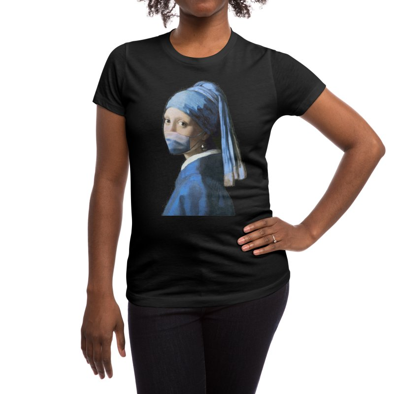 Girl with Covid-19 Women's T-Shirt by Thomas Orrow