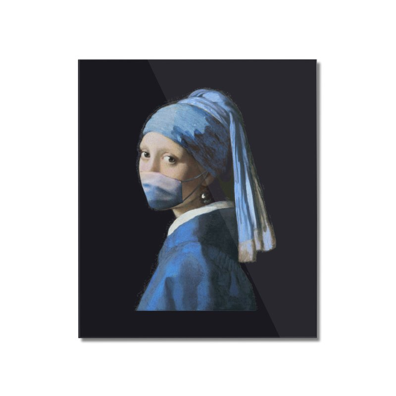 Girl with Covid-19 Home Mounted Acrylic Print by Thomas Orrow