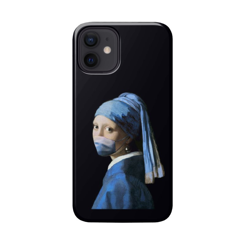 Girl with Covid-19 Accessories Phone Case by Thomas Orrow