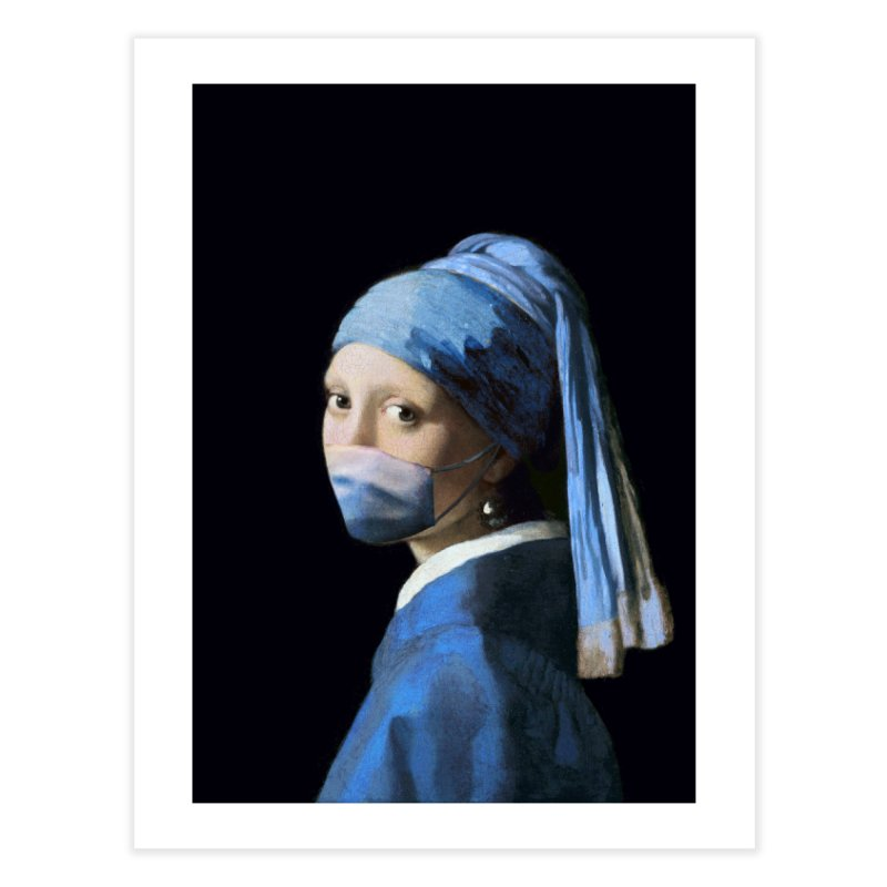 Girl with Covid-19 Home Fine Art Print by Thomas Orrow