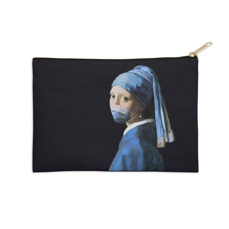Girl with Covid-19 Accessories Zip Pouch by Thomas Orrow