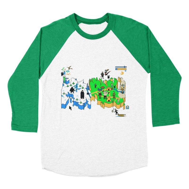 Game of Pixels Women's Baseball Triblend T-Shirt by Thomas Orrow