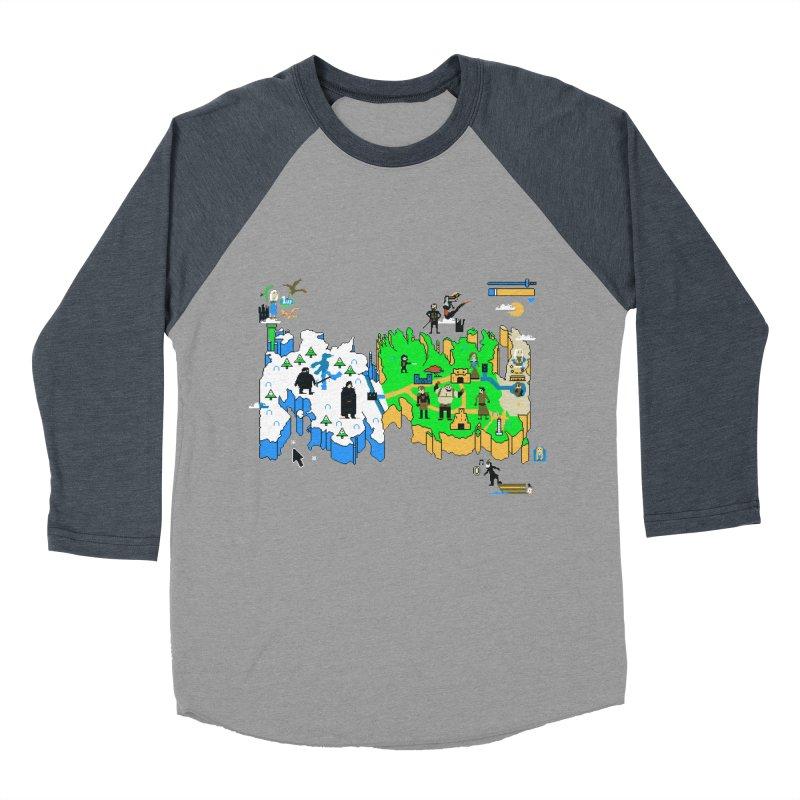 Game of Pixels Men's Baseball Triblend T-Shirt by Thomas Orrow
