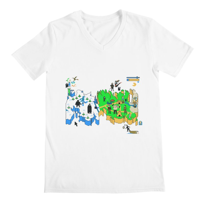 Game of Pixels Men's V-Neck by Thomas Orrow