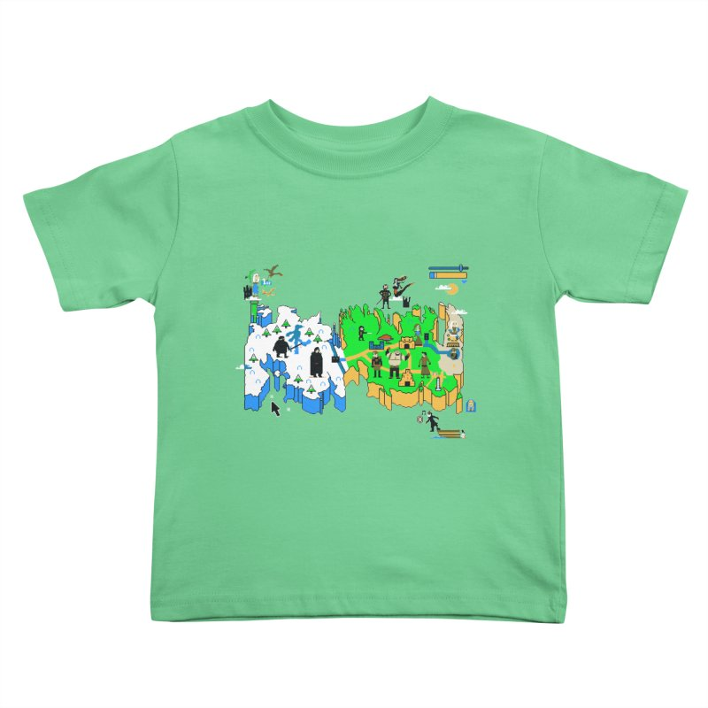 Game of Pixels Kids Toddler T-Shirt by Thomas Orrow