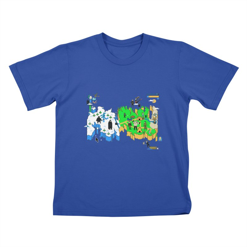 Game of Pixels Kids T-shirt by Thomas Orrow