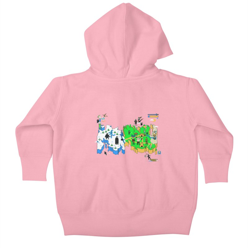 Game of Pixels Kids Baby Zip-Up Hoody by Thomas Orrow