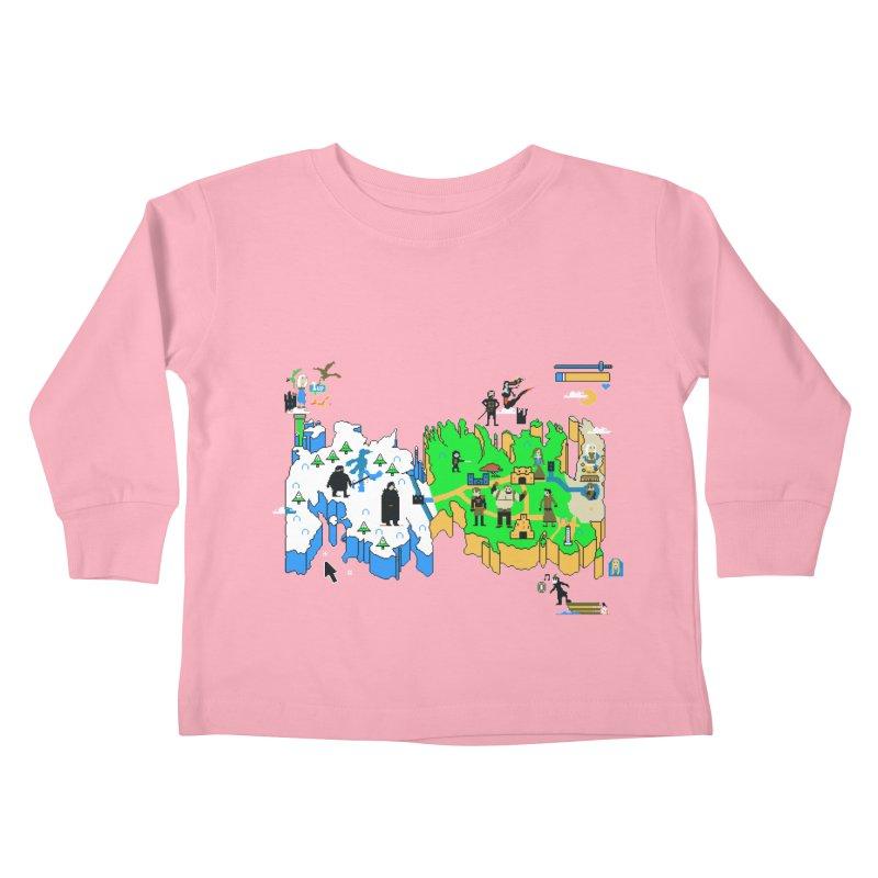 Game of Pixels Kids Toddler Longsleeve T-Shirt by Thomas Orrow