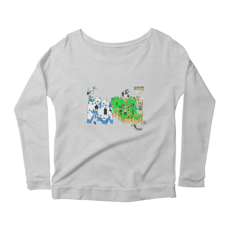 Game of Pixels Women's Longsleeve Scoopneck  by Thomas Orrow