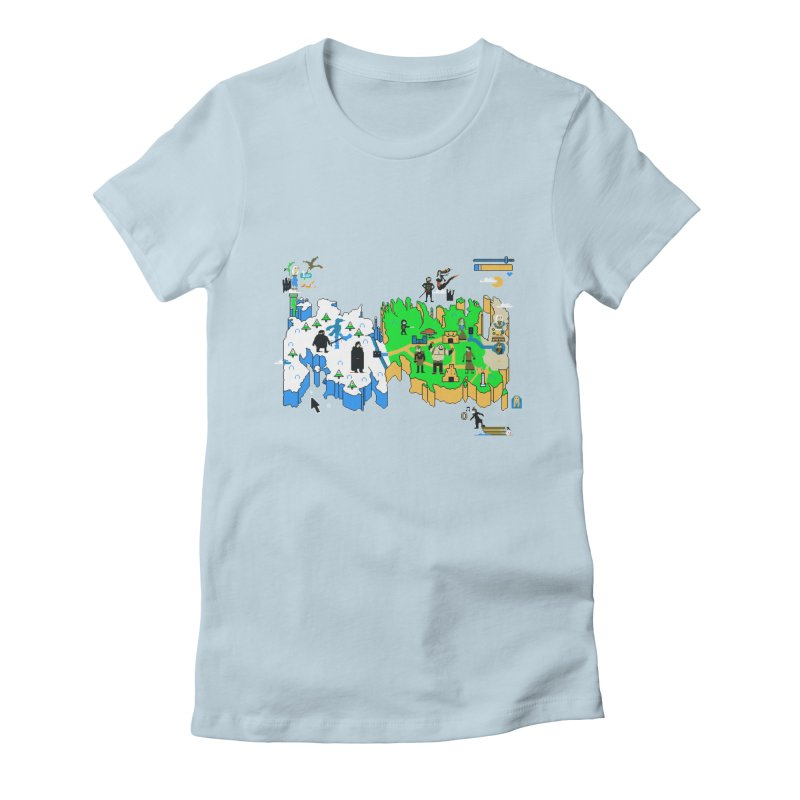 Game of Pixels Women's Fitted T-Shirt by Thomas Orrow