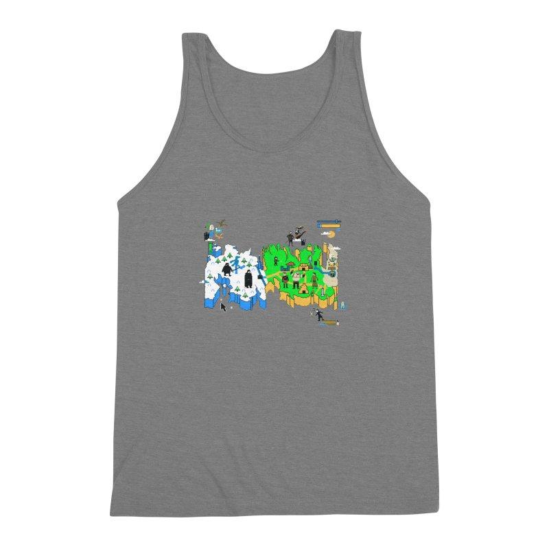 Game of Pixels Men's Triblend Tank by Thomas Orrow