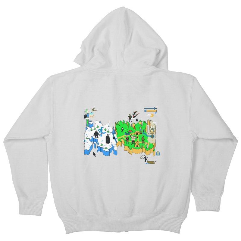 Game of Pixels Kids Zip-Up Hoody by Thomas Orrow
