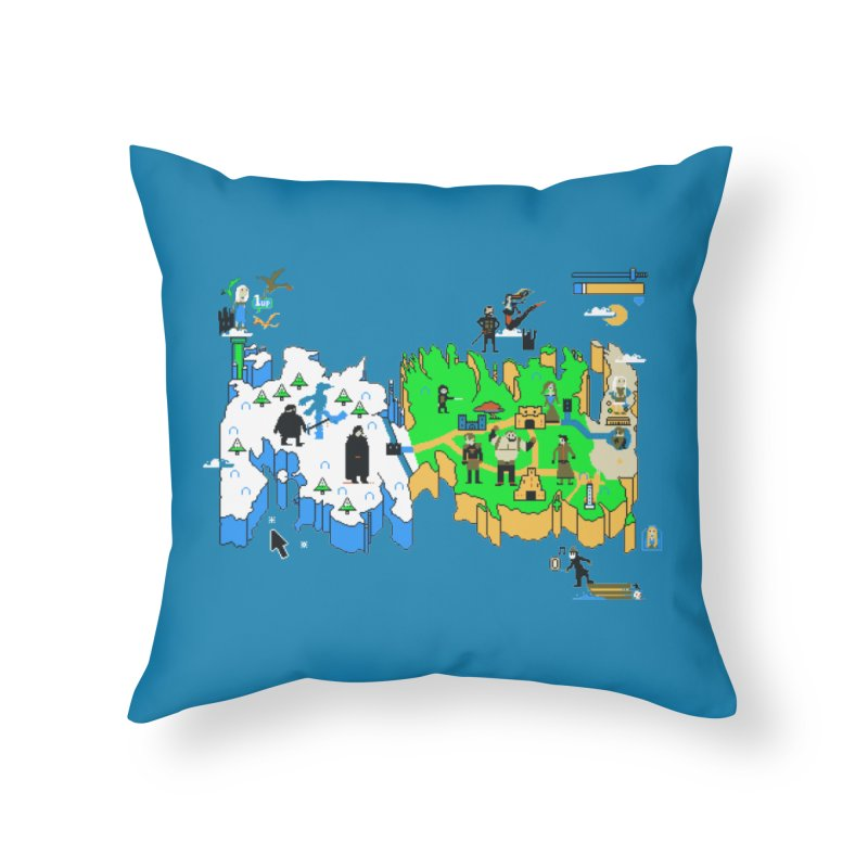Game of Pixels Home Throw Pillow by Thomas Orrow