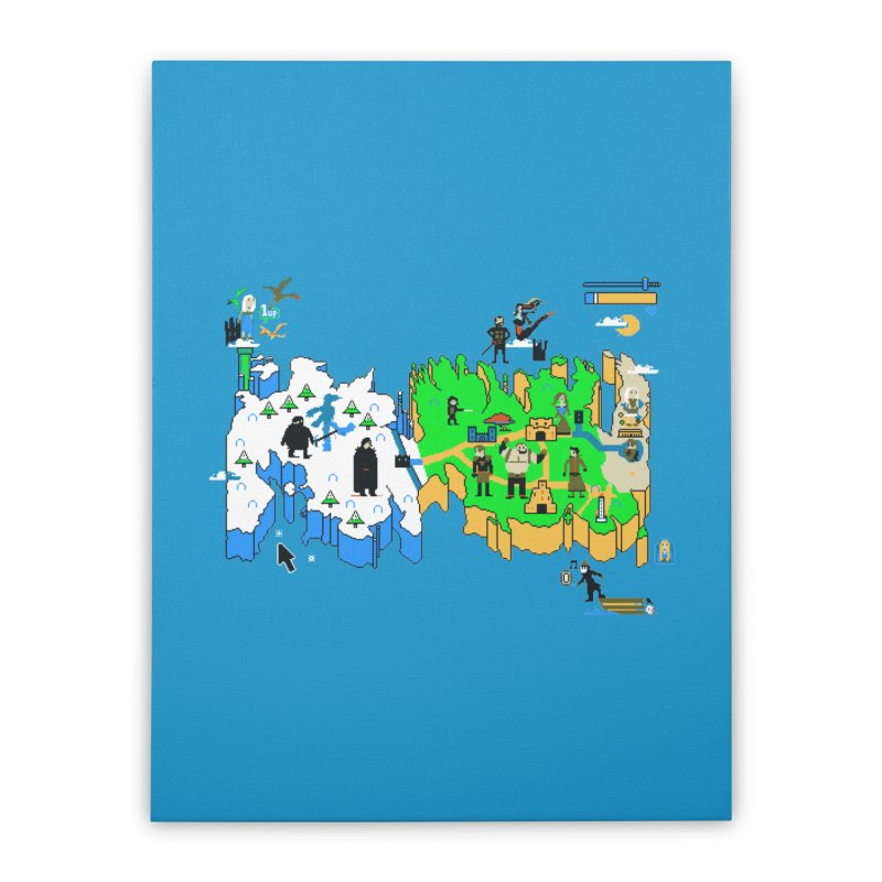 Game of Pixels Home Stretched Canvas by Thomas Orrow