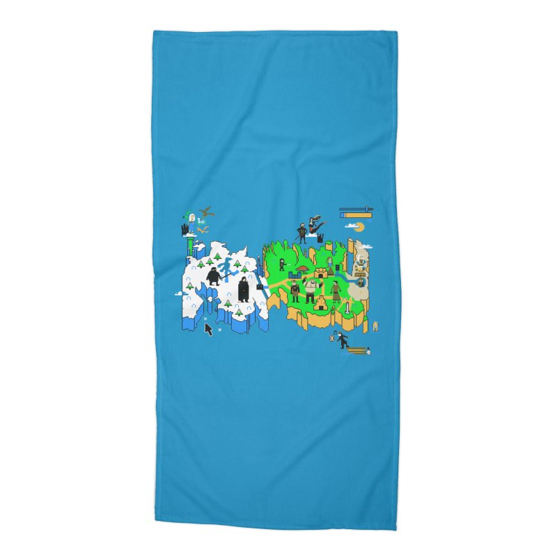 Game of Pixels Accessories Beach Towel by Thomas Orrow