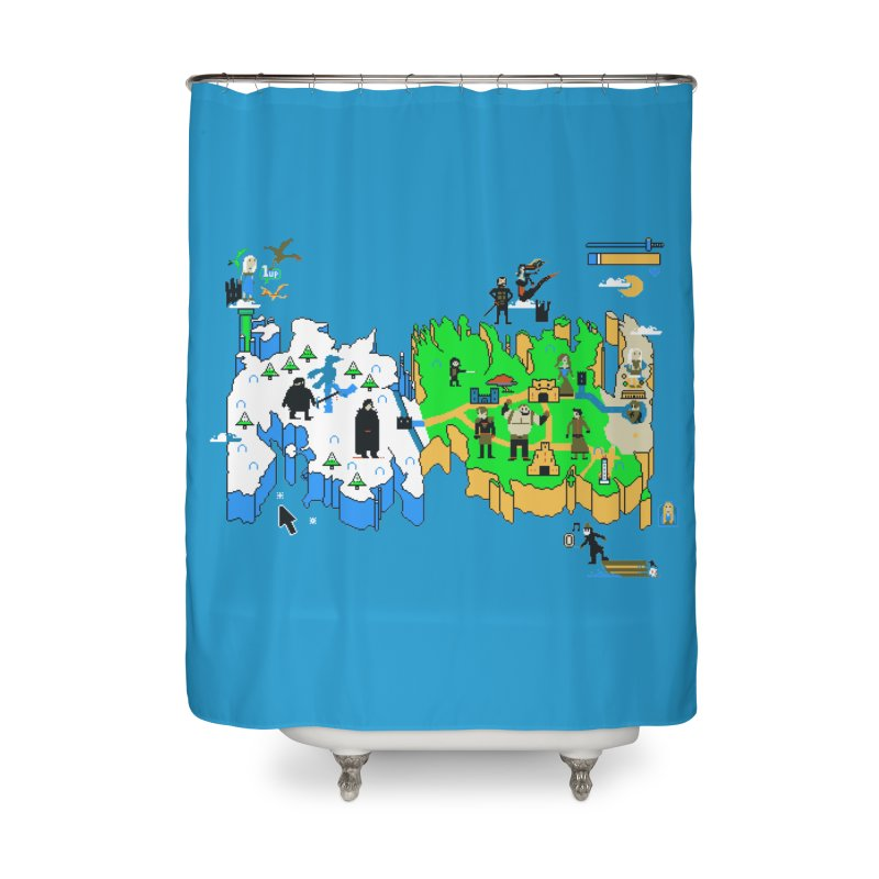 Game of Pixels Home Shower Curtain by Thomas Orrow