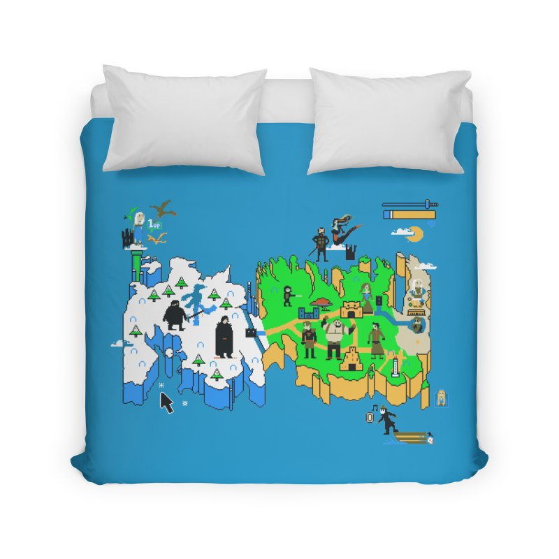 Game of Pixels Home Duvet by Thomas Orrow