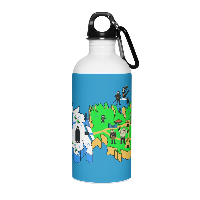 Game of Pixels Accessories Water Bottle by Thomas Orrow