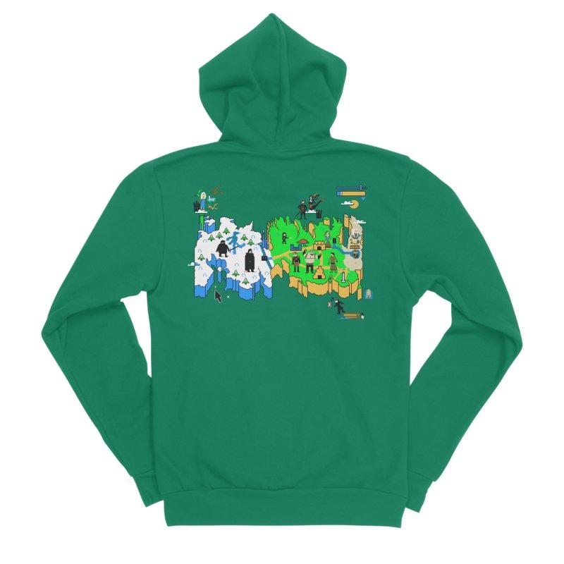 Game of Pixels Men's Sponge Fleece Zip-Up Hoody by Thomas Orrow