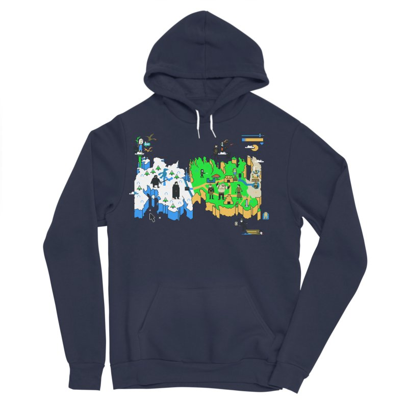 Game of Pixels Men's Sponge Fleece Pullover Hoody by Thomas Orrow