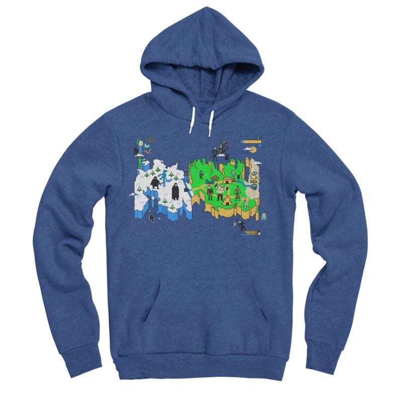Game of Pixels Men's Sponge Fleece Pullover Hoody by Thomas Orrow