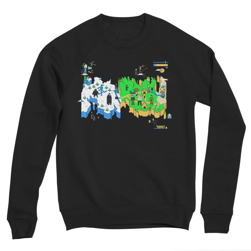 Game of Pixels Men's Sponge Fleece Sweatshirt by Thomas Orrow