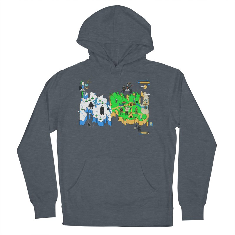 Game of Pixels Men's French Terry Pullover Hoody by Thomas Orrow