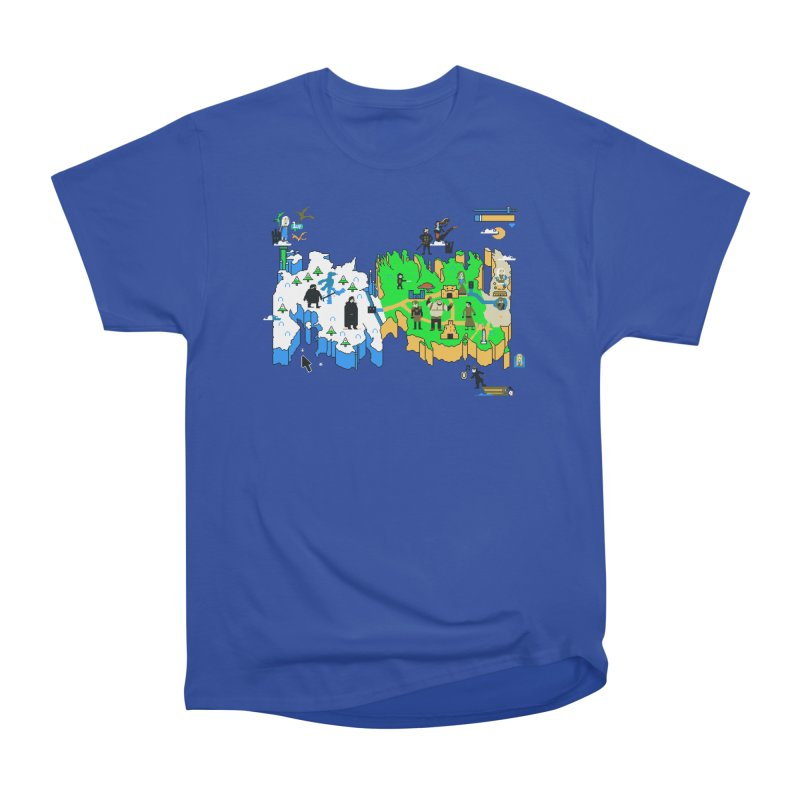 Game of Pixels Women's Heavyweight Unisex T-Shirt by Thomas Orrow
