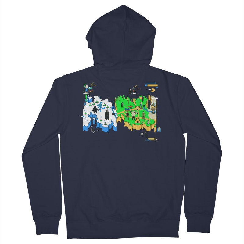 Game of Pixels Men's Zip-Up Hoody by Thomas Orrow