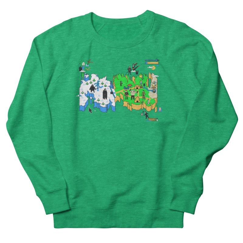 Game of Pixels Women's French Terry Sweatshirt by Thomas Orrow