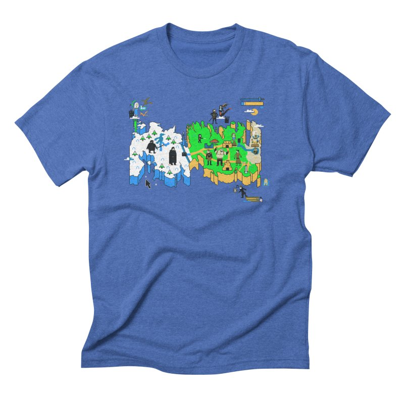 Game of Pixels Men's Triblend T-Shirt by Thomas Orrow