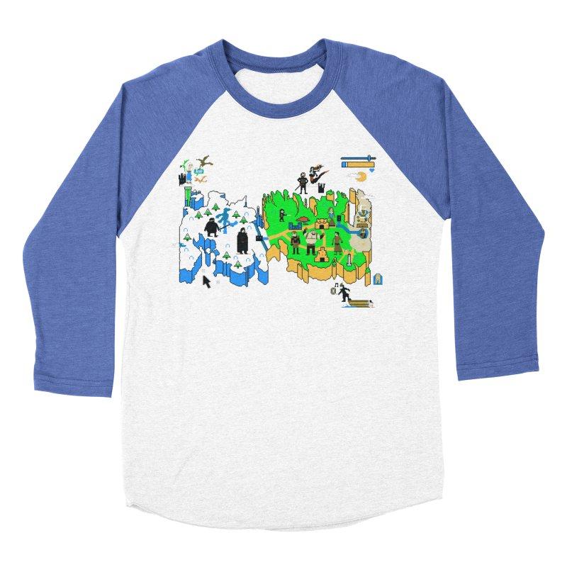 Game of Pixels Women's Baseball Triblend Longsleeve T-Shirt by Thomas Orrow