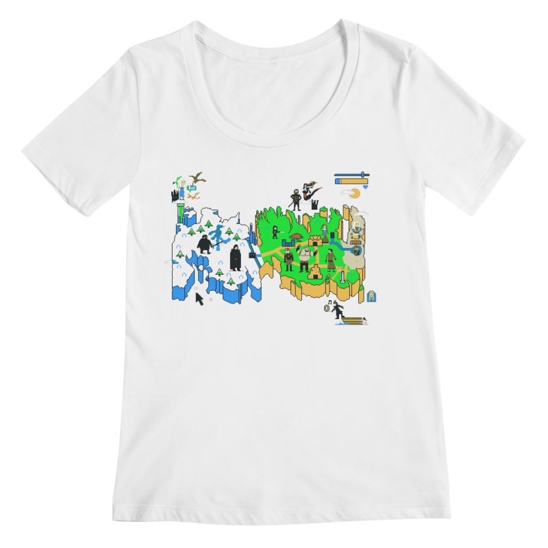 Game of Pixels Women's Regular Scoop Neck by Thomas Orrow