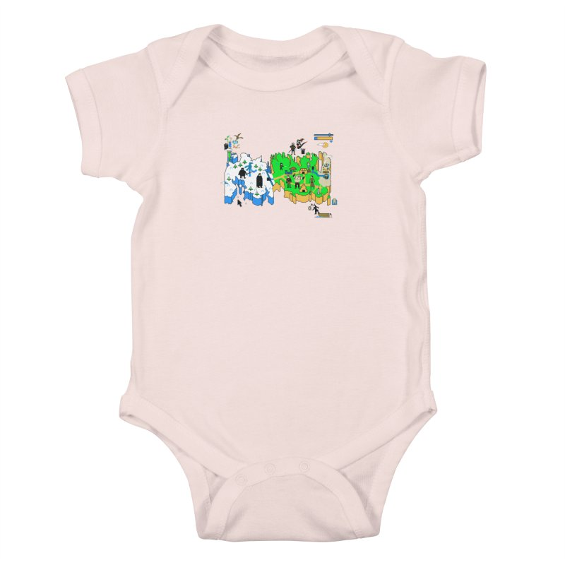 Game of Pixels Kids Baby Bodysuit by Thomas Orrow