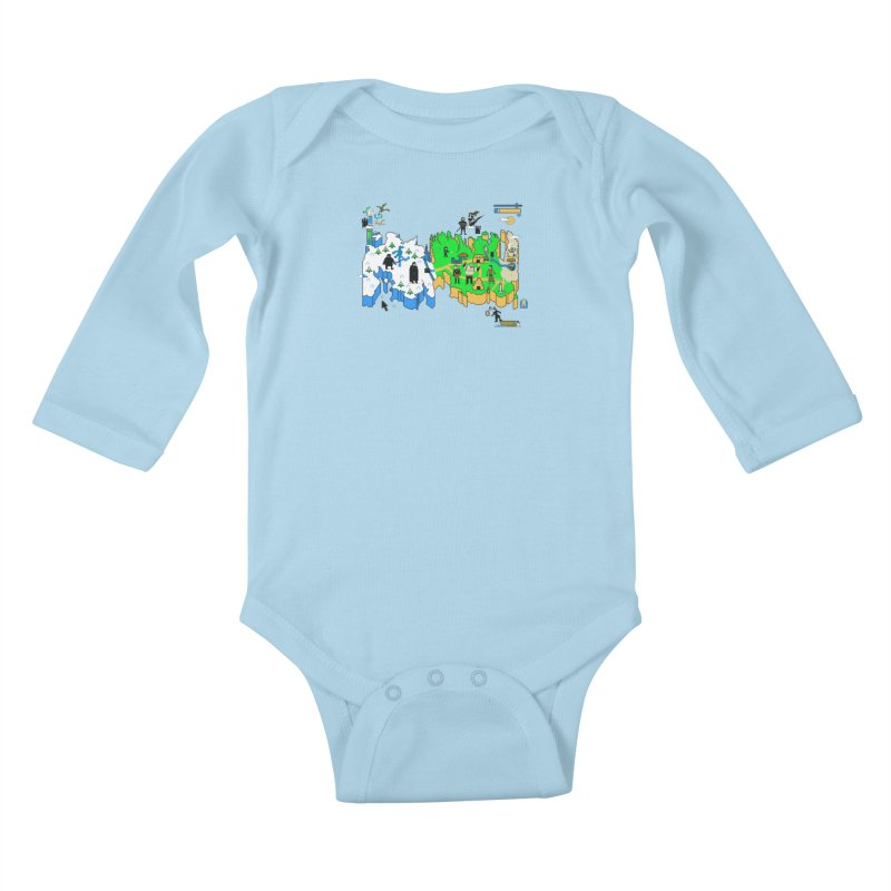 Game of Pixels Kids Baby Longsleeve Bodysuit by Thomas Orrow