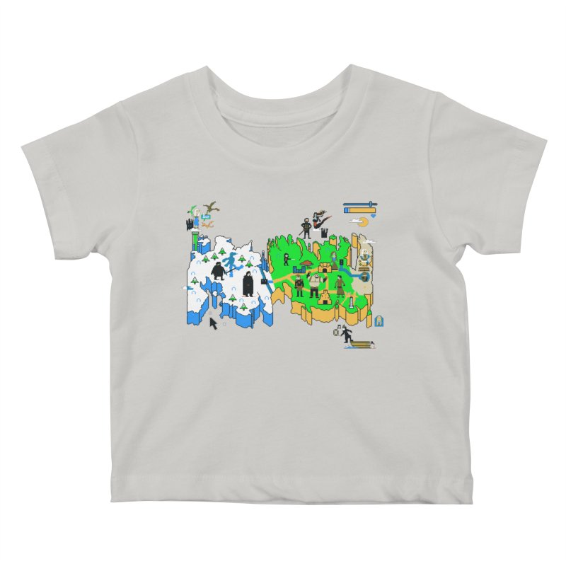 Game of Pixels Kids Baby T-Shirt by Thomas Orrow