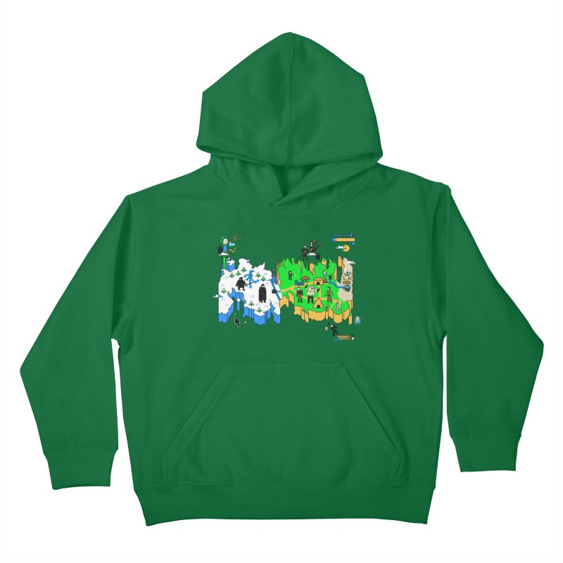 Game of Pixels Kids Pullover Hoody by Thomas Orrow