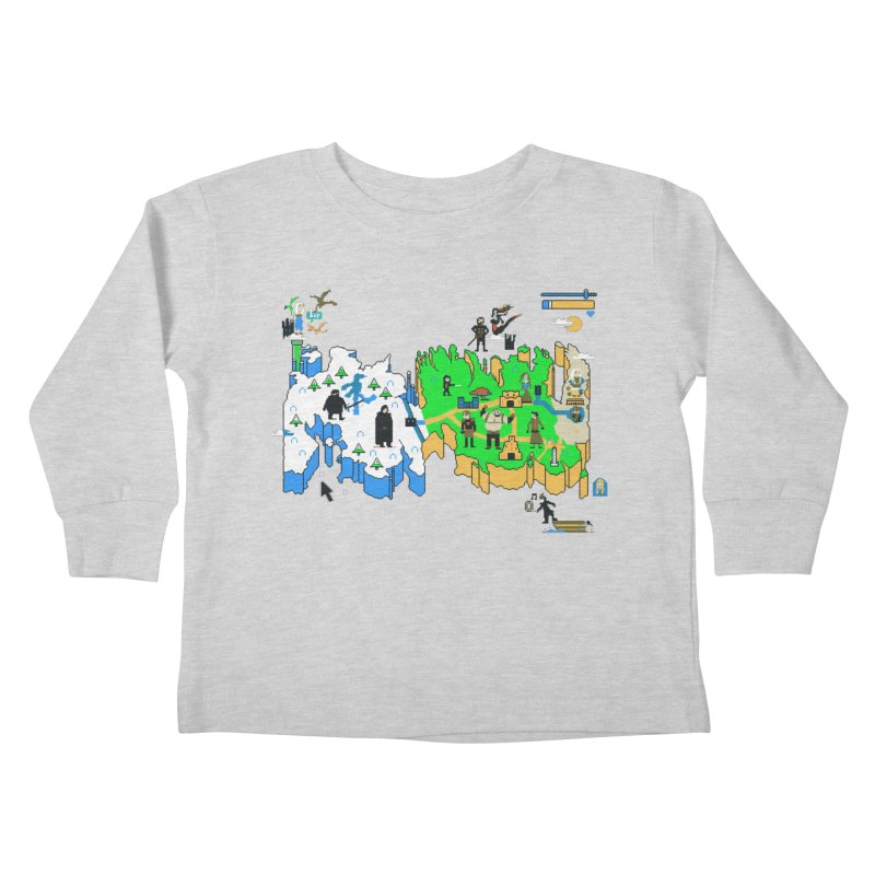 Game of Pixels Kids Toddler Longsleeve T-Shirt by Thomas Orrow
