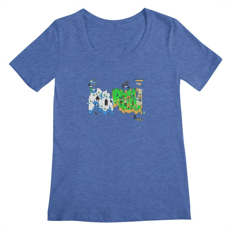 Game of Pixels Women's Scoopneck by Thomas Orrow