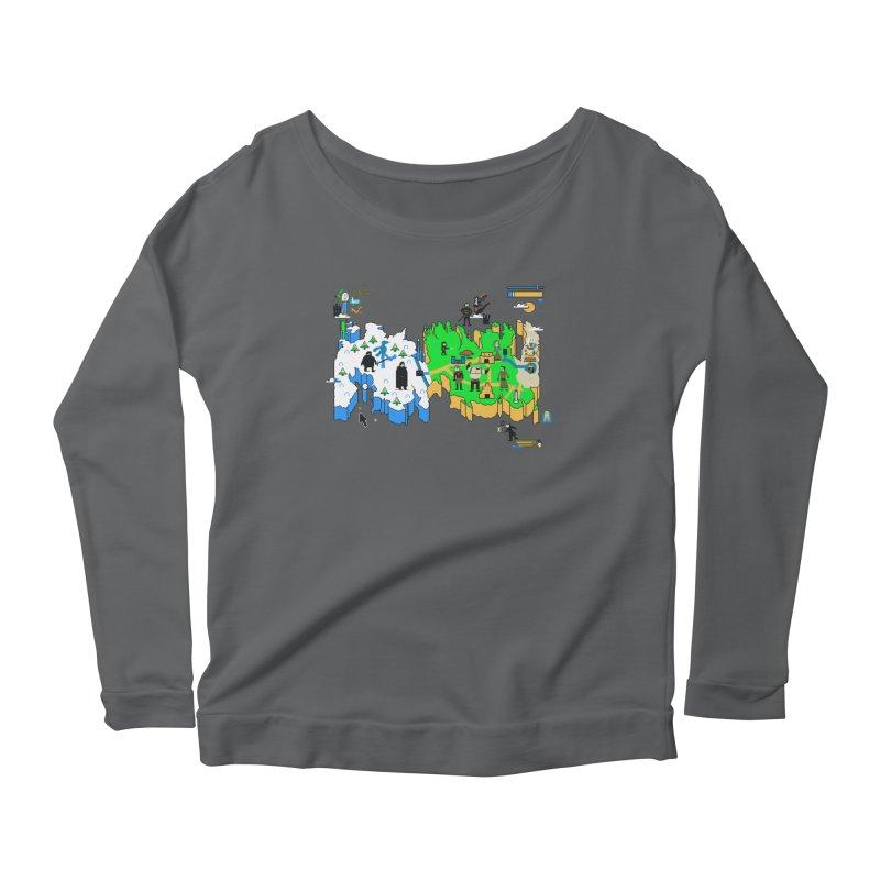 Game of Pixels Women's Scoop Neck Longsleeve T-Shirt by Thomas Orrow