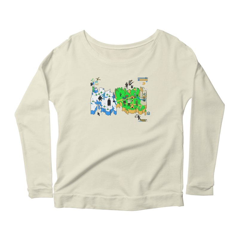 Game of Pixels Women's Scoop Neck Longsleeve T-Shirt by Thomas Orrow