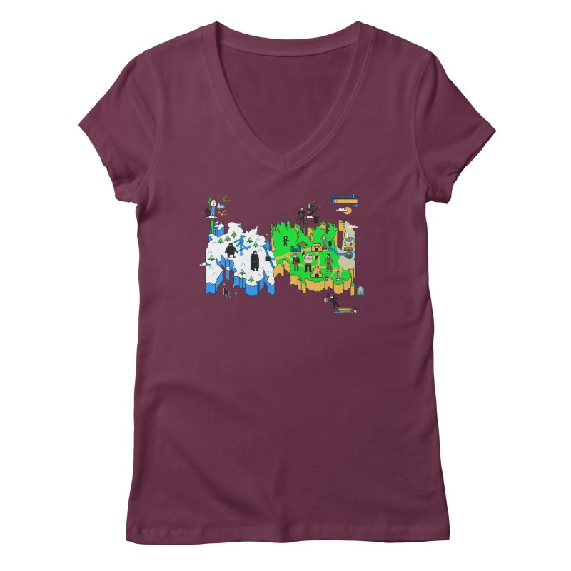 Game of Pixels Women's V-Neck by Thomas Orrow