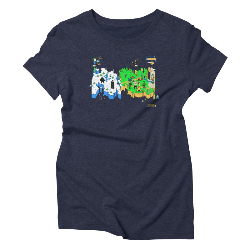 Game of Pixels Women's Triblend T-Shirt by Thomas Orrow