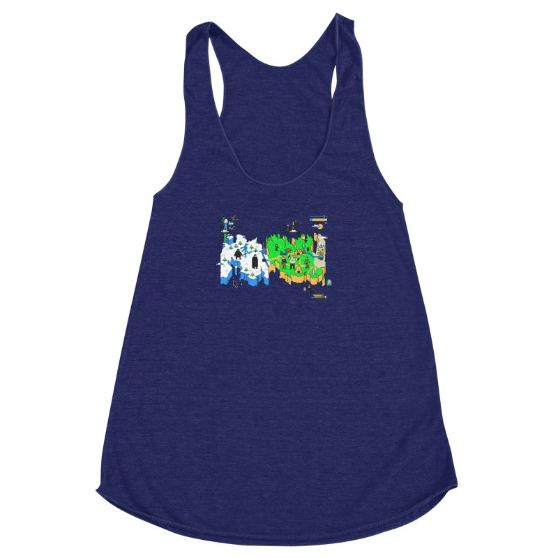 Game of Pixels Women's Racerback Triblend Tank by Thomas Orrow