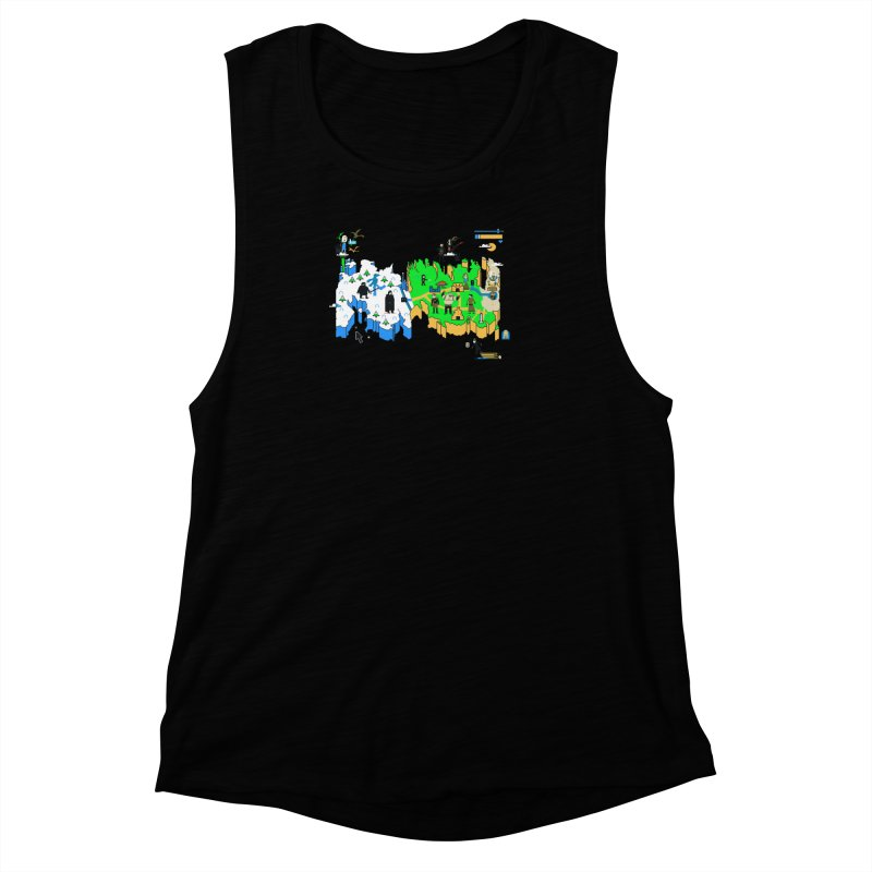 Game of Pixels Women's Muscle Tank by Thomas Orrow
